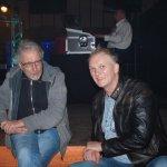 Michael Ernst von der D-Lite Partyband und Kalle Hogrefe von Sound Linear im Gespräch bei der Schlagerparty Ahden 2017
